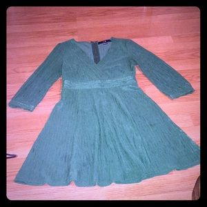Forever 21 bright green dress. Size S/P Petite